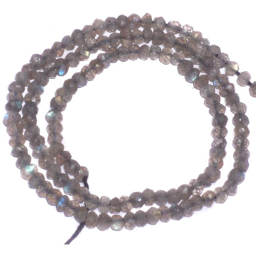 Beadsnfashion Jewellery making Smoky, size 3mm, pack of 2 strings.