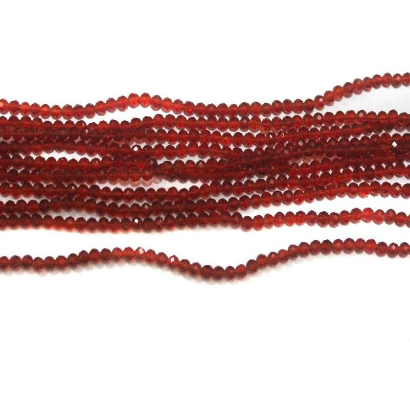 Beadsnfashion Jewellery making  CRYSTAL FACETED  BEADS TRANS RED 4mm, pack of 10  strings