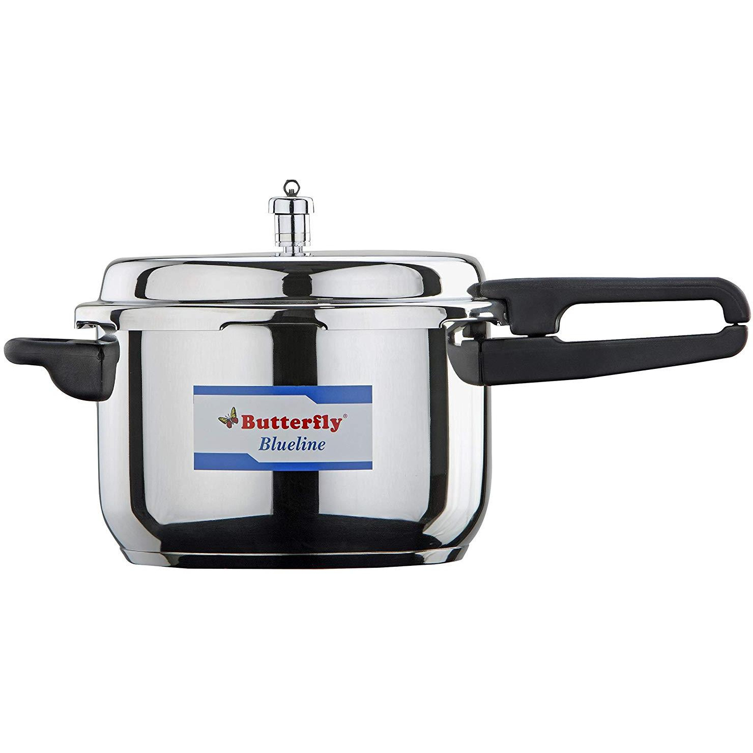 Butterfly BL-2L Blue Line Stainless Steel Pressure Cooker, 2-Liter